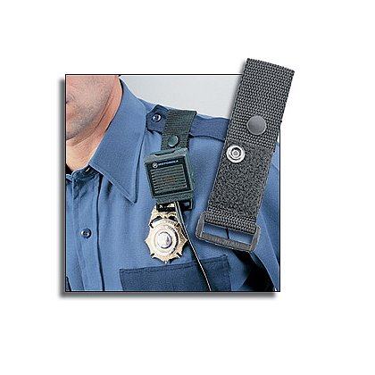 Uncle Mike's Remote Mic Carrier for Epaulet, Black Cordura Nylon