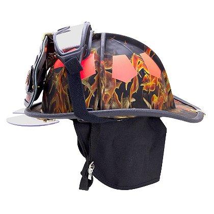 Bullard USTM Traditional Fire Helmet, Blaze Camo