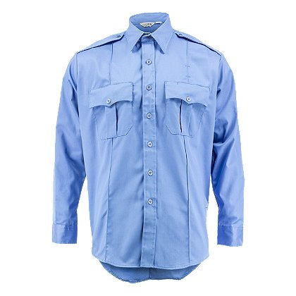 Lion StationWear Bravo 6.5oz. Long Sleeve 100% Cotton Twill Shirt