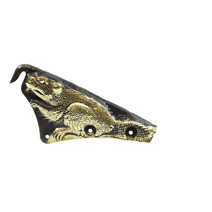 Liberty Artworks Brass 3D Carved Beaver Front Holder with Fasteners