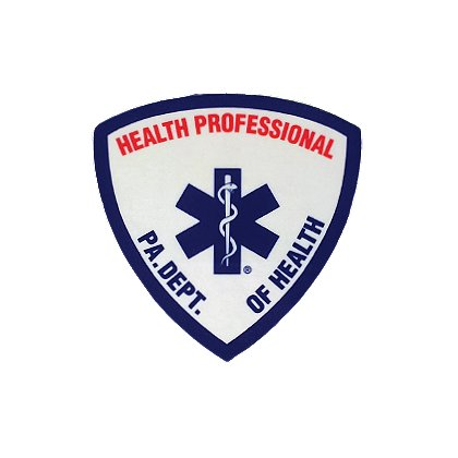 Exclusive Reflective Decal PA Dept. Of Health, Health Professional