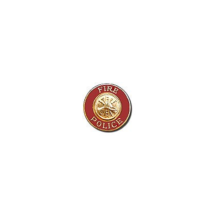 Exclusive Fire Police Enamel Collar Emblem