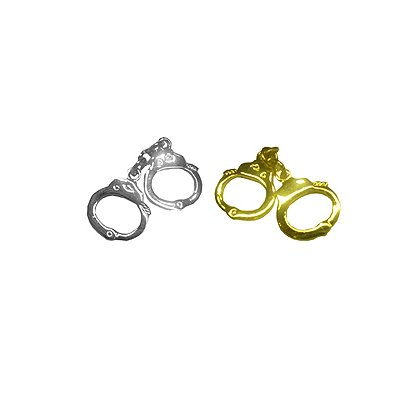 Tie Tac with Handcuffs, Gold or Silver