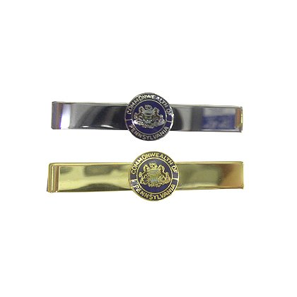 Tie Bar with Pennsylvania Seal, Gold or Silver