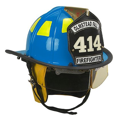 Cairns Blue 1010 Traditional Fiberglass Helmet, NFPA, OSHA
