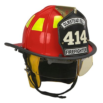 Cairns Red 1010 Traditional Fiberglass Helmet, NFPA, OSHA