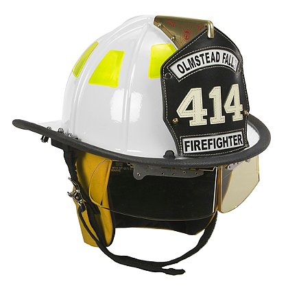 Cairns White 1010 Traditional Fiberglass Helmet, NFPA, OSHA