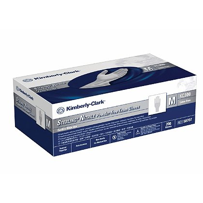 Halyard Health KC300 Disposable Nitrile Gloves, Sterling