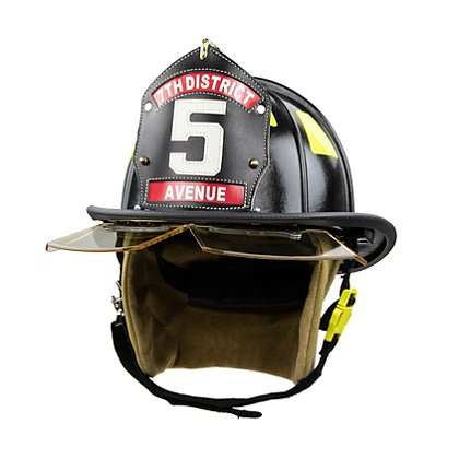 FIREFIGHTER HELMET BAND//TRIM FIRE HELMET STICKER BLACK