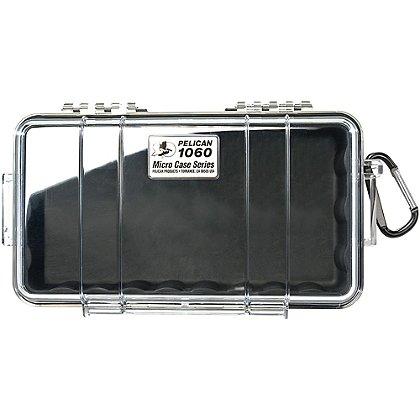 Pelican Micro Case, Model 1060, Black w/ Clear Lid