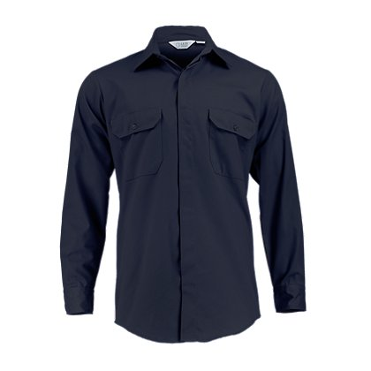 Lion StationWear Long-Sleeve 5.25 oz. Polyester/Cotton Twill Brigade Shirt