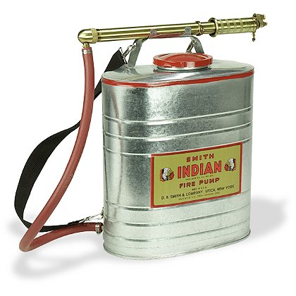 Smith Indian Fire Pump, Steel Wildland Fire Tank with Pump, 5 Gallon