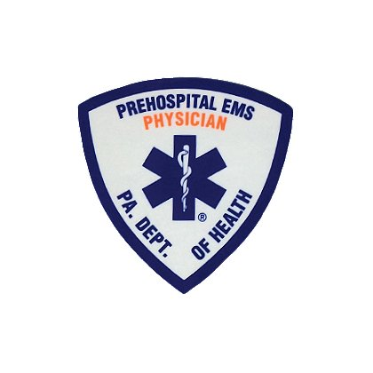 Exclusive PA. Dept. Of Health Prehospital Physician Embroidered Patch