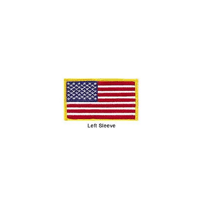 TheFireStore Embroidered American Flag Patch w/Gold Border