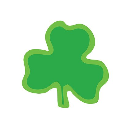 Exclusive Shamrock Die-Cut Reflexite Decals
