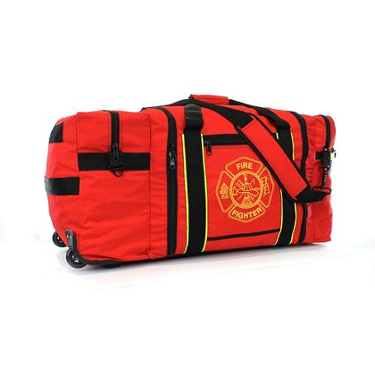 TheFireStore Deluxe Jumbo FireFighter Gear Bag with Wheels