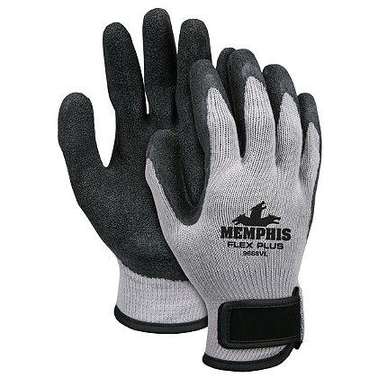 Shelby 2517 Shelby Black Knit Dipped-Palm Work Glove