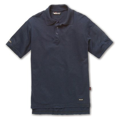 Workrite 6.7 oz. Tecasafe Short Sleeve Polo, Navy