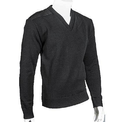 Cobmex V-Neck Windstopper Sweater, Acrylic/Wool with VELCRO® brand Epaulettes