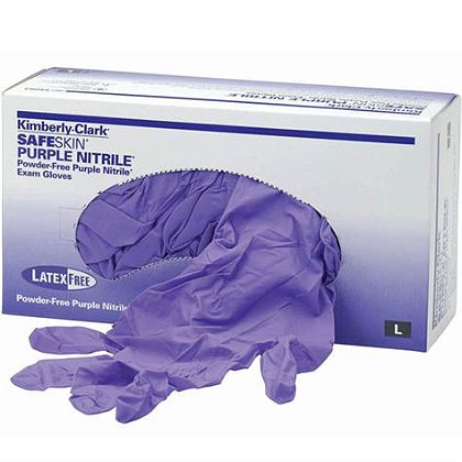 Halyard Health Nitrile Gloves, KC500, Purple, Powder Free