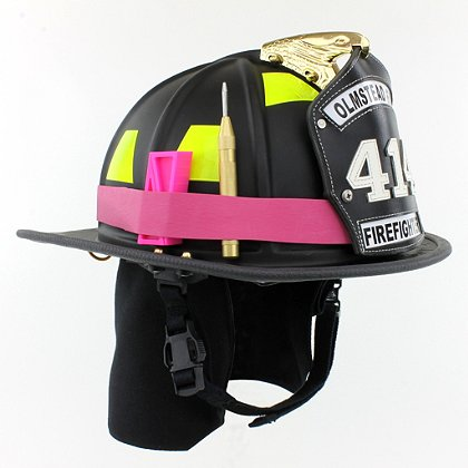 TheFireStore Exclusive Heavy Duty Pink Rubber Helmet Band