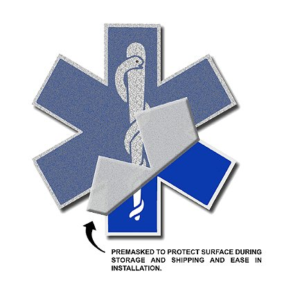 Star of Life Vehicle Decal, 4