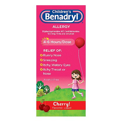 Johnson & Johnson Benadryl Elixir, 4 oz Bottle