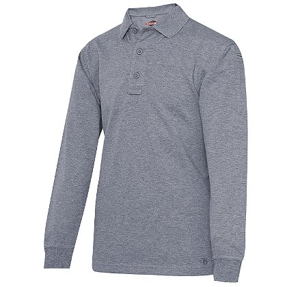 Tru-Spec 24-7 Heather Gray Long Sleeve Polo Shirt