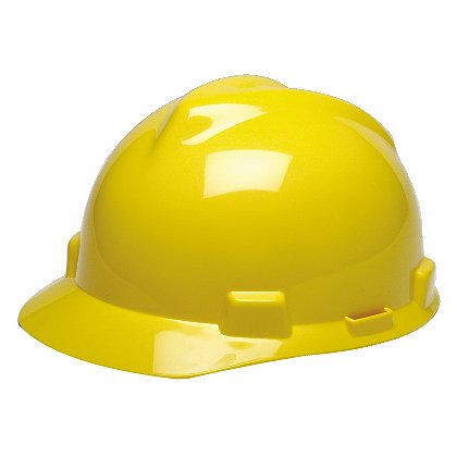 MSA V-Gard Slotted Safety Helmet