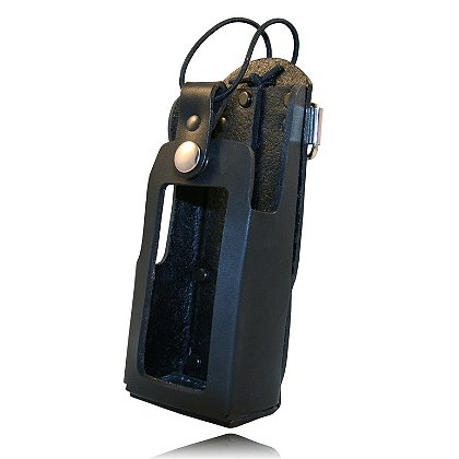 Boston Leather Radio Holder for Motorola XTS 1500, 2500 & 5000, with Window Cutout