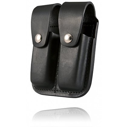 Boston Leather Snap-Closure Double Magazine Pouch, 9mm or .40 Cal.