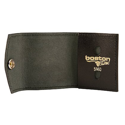 Boston Leather Badge Tri-Fold Case