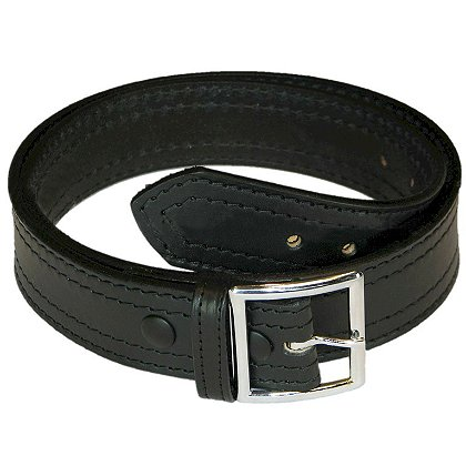 Boston Leather 4 Row Stitch Garrison Belt