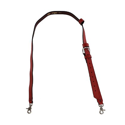 Boston Leather Exclusive Red Leather Radio Strap