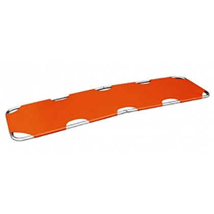 theEMSstore Flat Aluminum Folding Stretcher, Orange