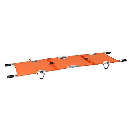 theEMSstore Folding Stretcher with Handles, Orange