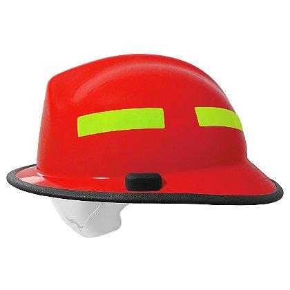 Pacific F6 Fiberglass Fire Helmet, Red