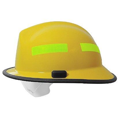 Pacific F6 Fiberglass Fire Helmet, Yellow