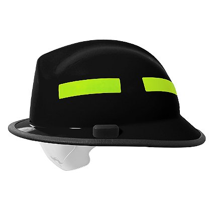 Pacific F6 Fiberglass Fire Helmet, Black