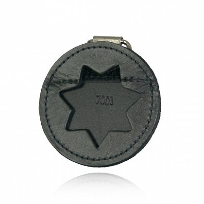 Boston Leather Round Leather K-9 Badge Holder