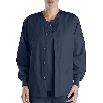 Dickies Women's Snap Warm-Up Jacket