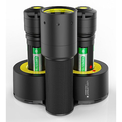 LED Lenser i7R Rechargeable Flashlight w/ Double Charging Base