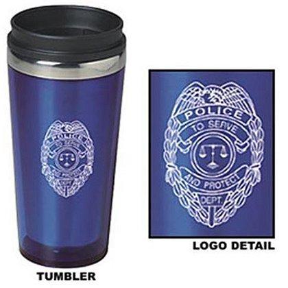 Police Badge Tumbler