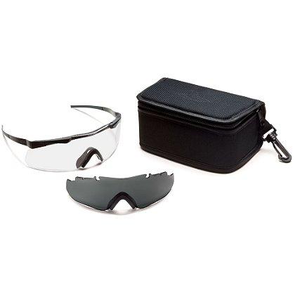Smith Optics Aegis ARC Echo Eyeshield Field Kit, Black Frame/Clear Lens, Gray Spare Lens