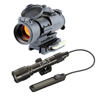 Aimpoint PRO with LRP Mount and Streamlight ProTac Railmount 2