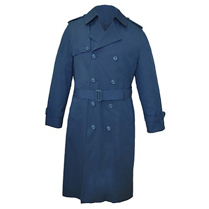 "Anchor Uniform Men's 46"" Darien Double Breasted Trench Coat"
