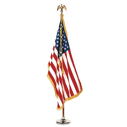 Annin Colonial Nyl-Glo® 100% Nylon Indoor Flag Set