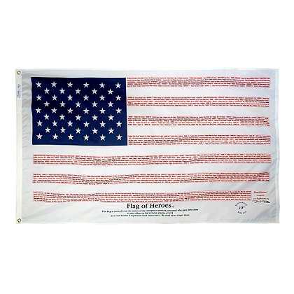 Annin Flagmakers Flag of Heroes 9/11 Fallen First Reponders Edition