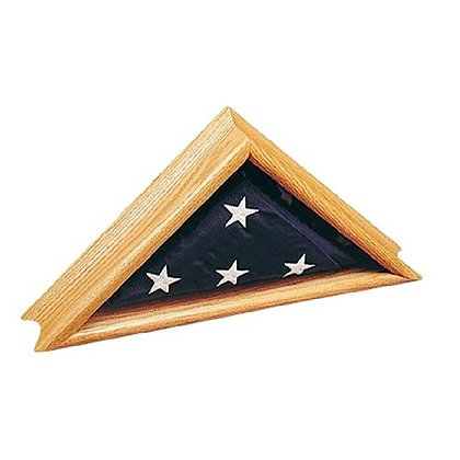 Annin Deluxe Oak Commemorative Flag Case