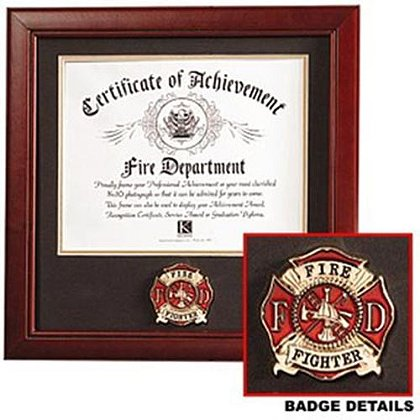 Firefighter Certificate Of Achievement Frame